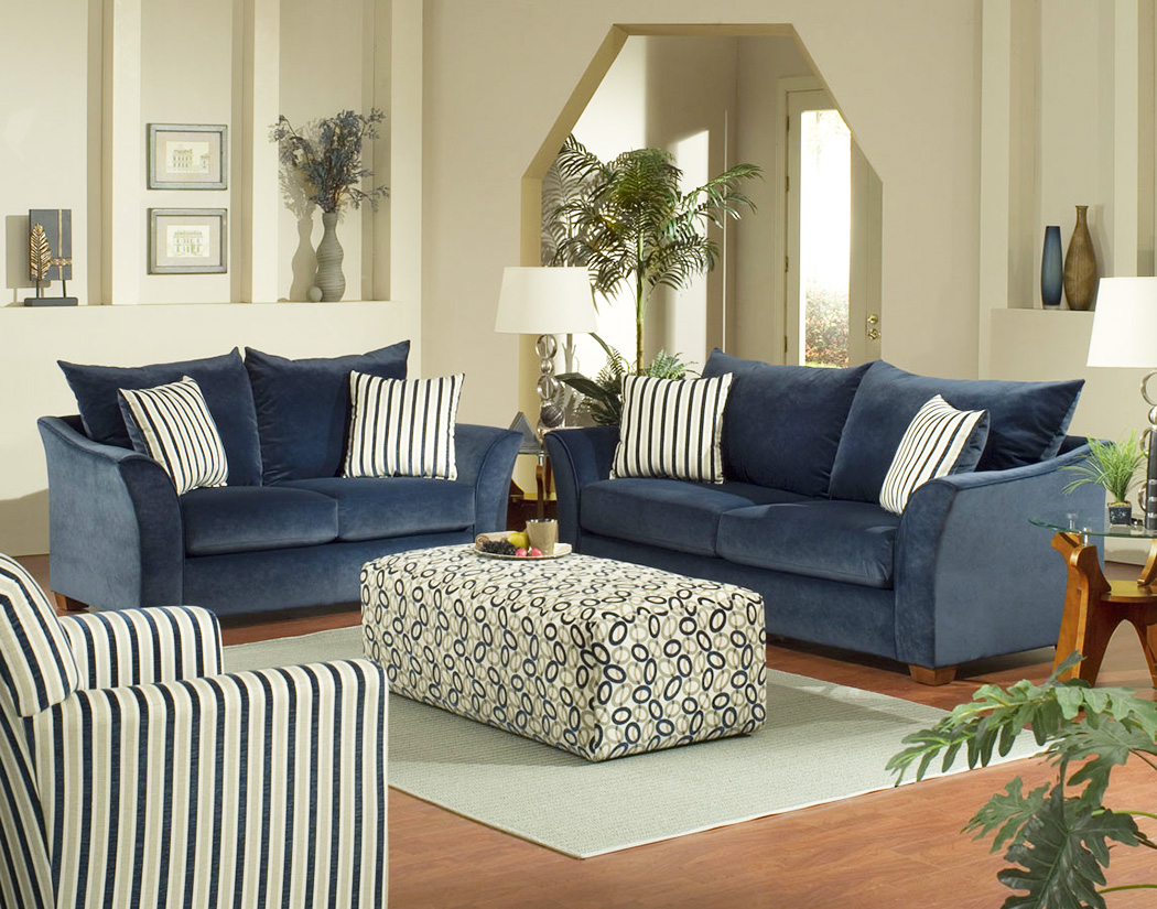 simple-but-elegant-beige-living-room-with-blue-living-sofa-and-strip-decor