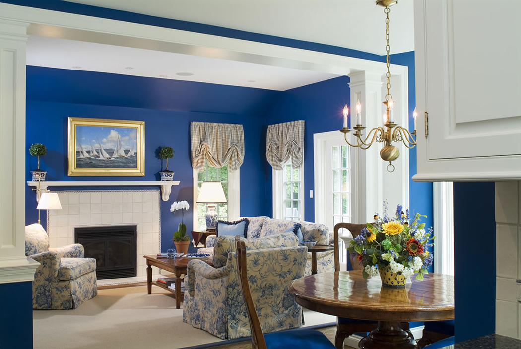 unique-decoration-blue-living-room-interior
