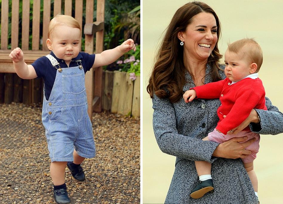 новые фотографии принца Джорджа