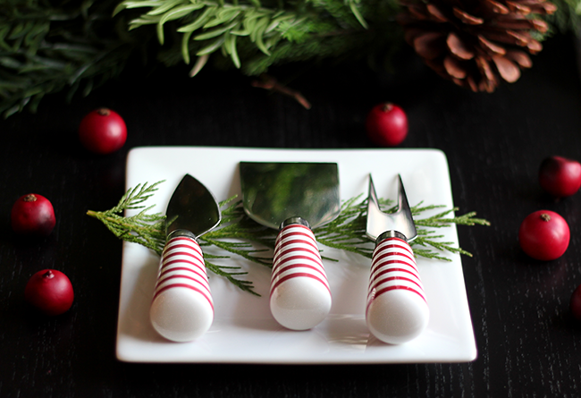 Crate and Barrel Holiday Cheese Knives