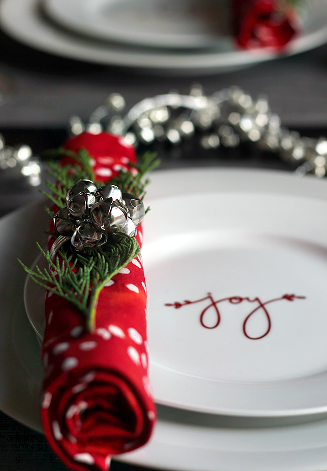 Crate and Barrel Jingle Bells Napkin Rings